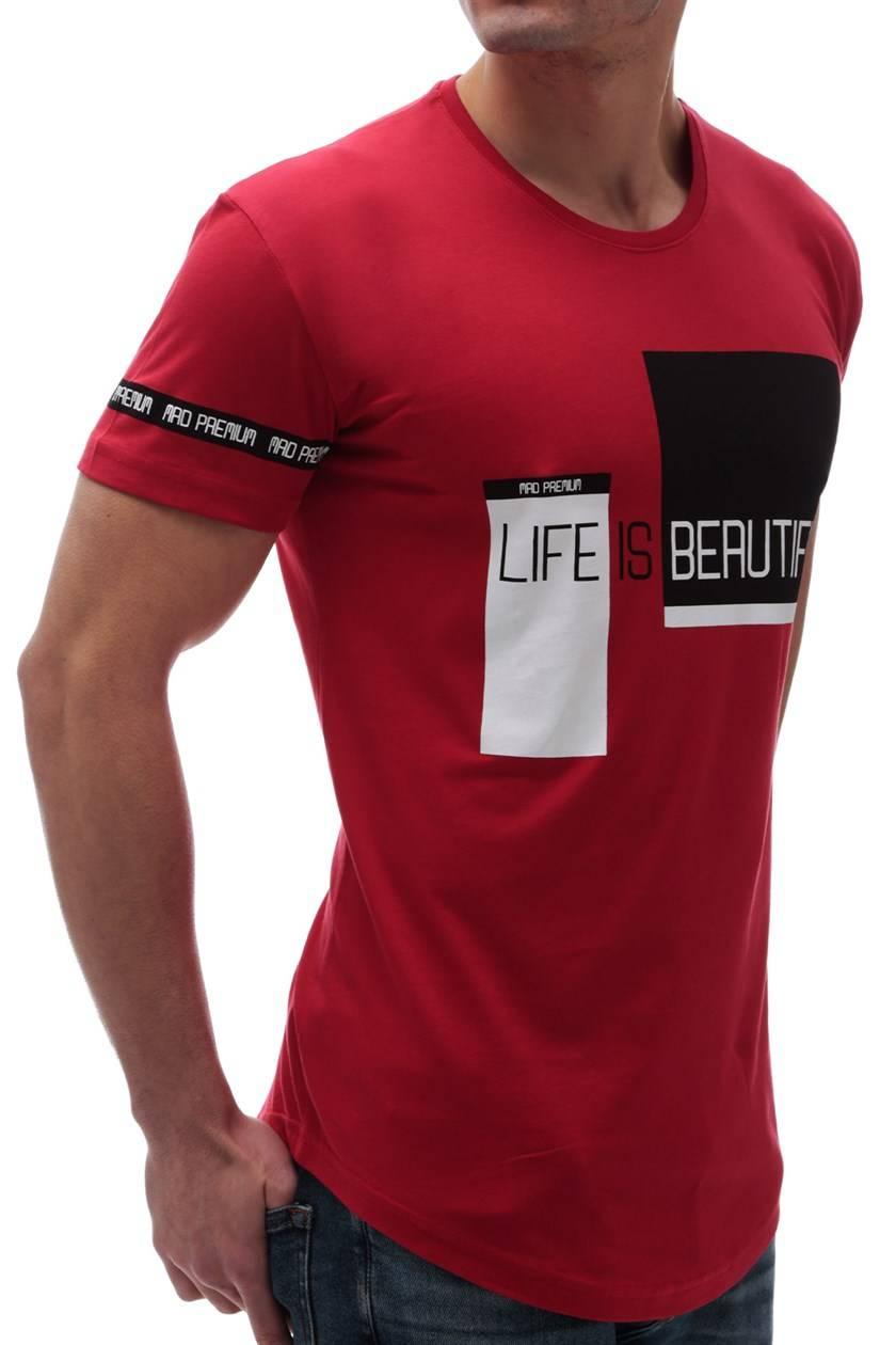 cdb31773aba ανδρικό κοντομάνικο μπλουζάκι TROY RED